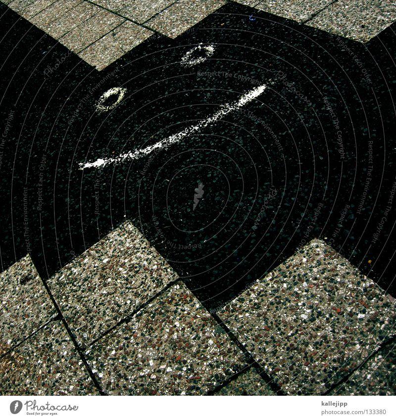 http://www.flickr.com/photos/streetart/173185972/ 6 Grinning Smiley Art Street art Line Zigzag Tar Sidewalk Facial hair Comic Stick figure