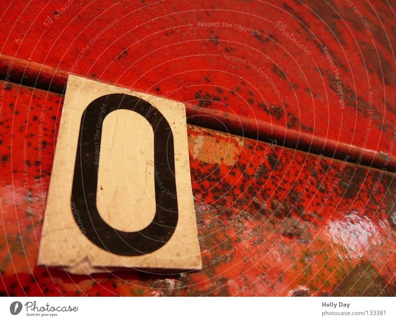 Red Black Relaxation Wall (building) Empty Corner Digits and numbers Tile Sign Hang Dappled