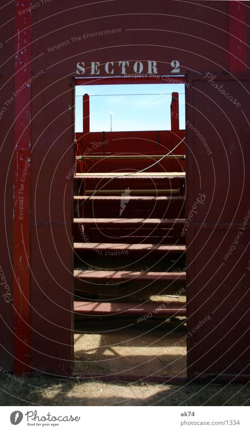 Enter the arena Bullfight Red Leisure and hobbies Arena Door Gate Stairs Sky