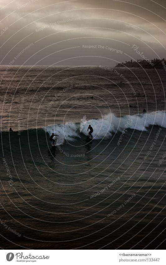 Dangerous surf 2 Surfer Surfboard Ocean Waves Funsport Beach Coast wave sea San Diego County Pacific Beach Water wetsuit Surfing