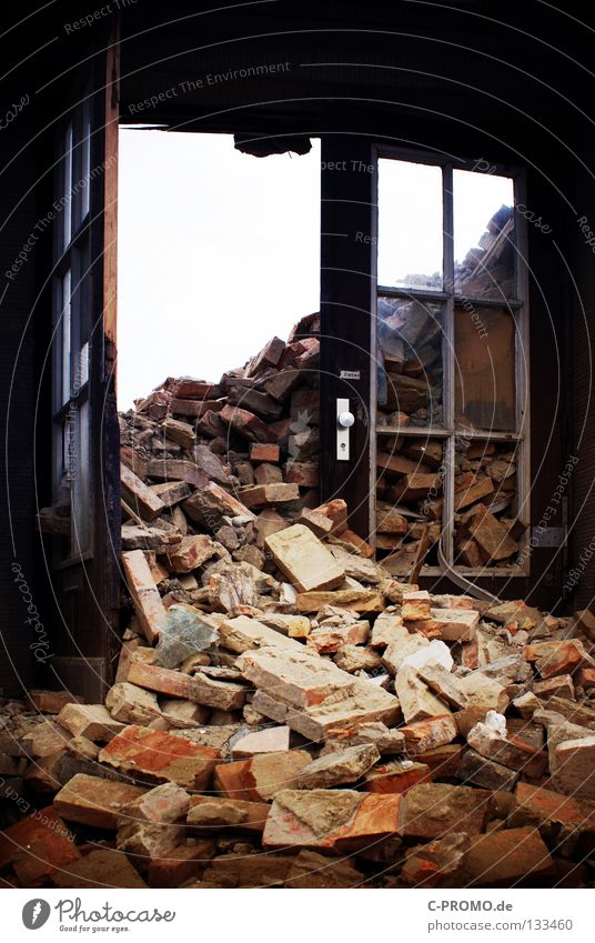 House (Residential Structure) Building Door Grief Derelict Brick Craft (trade) Distress War Destruction Dismantling Attack Heap Bomb Building rubble Trash