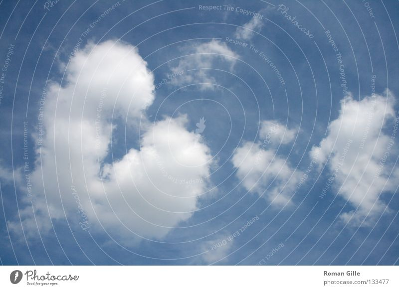 Sky Blue White Summer Clouds Joy Happy Heart Valentine's Day Colour