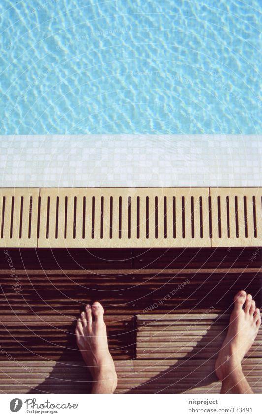 Water Summer Joy Cold Jump Feet Swimming pool Trust Brave Gooseflesh