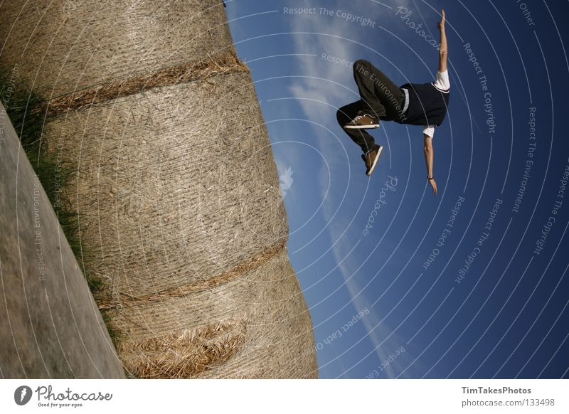 Nature Youth (Young adults) Landscape Playing Jump Field Aviation Image editing Böblingen district