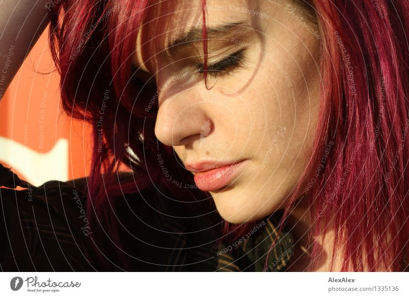 Youth (Young adults) City Beautiful Colour Young woman 18 - 30 years Face Adults Love Natural Feminine Hair and hairstyles Dream Wild Authentic Esthetic