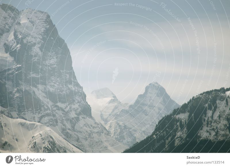 Snow Wall (building) Playing Mountain Landscape Large Rock Tall Might Switzerland Alps Steep