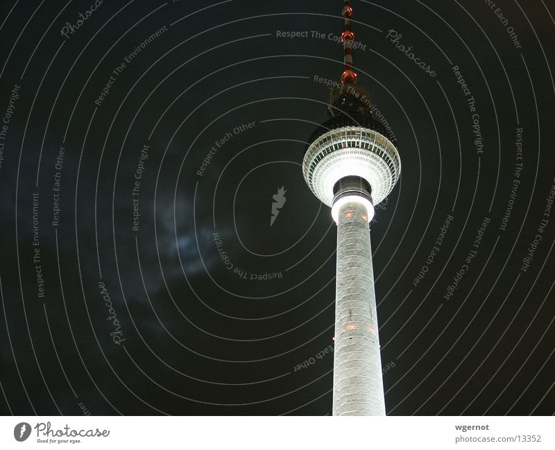 Berlin at night Night Architecture Berlin TV Tower