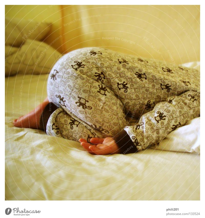 Hand Yellow Relaxation Boy (child) Feet Legs Baby Contentment Brown Arm Sleep Bed Lie Hind quarters Trust Square