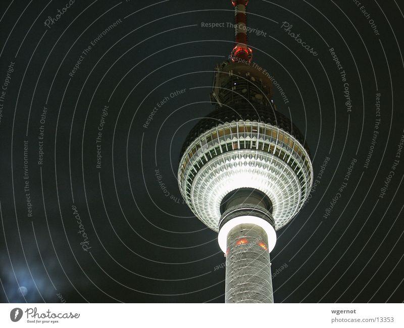 Berlin Architecture Berlin TV Tower Alexanderplatz Moonlight