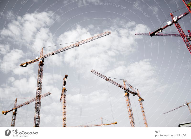 broadening of horizons Construction site Crane Crane operator Geometry Infinity Continuous Transience Replication Renewal Quit Credit Arrange Invent