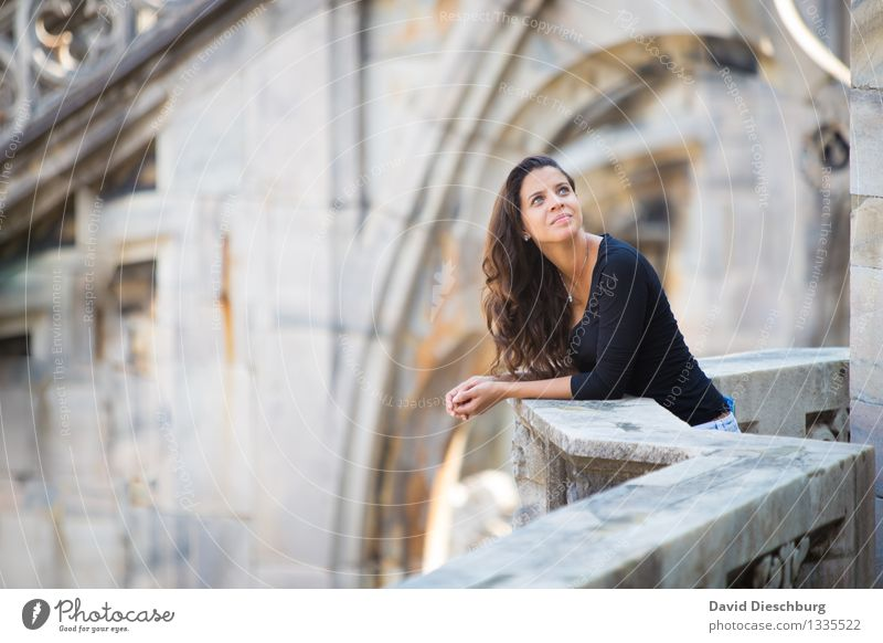 Human being Vacation & Travel Youth (Young adults) Beautiful Young woman 18 - 30 years Black Face Adults Yellow Wall (building) Feminine Wall (barrier) Gray