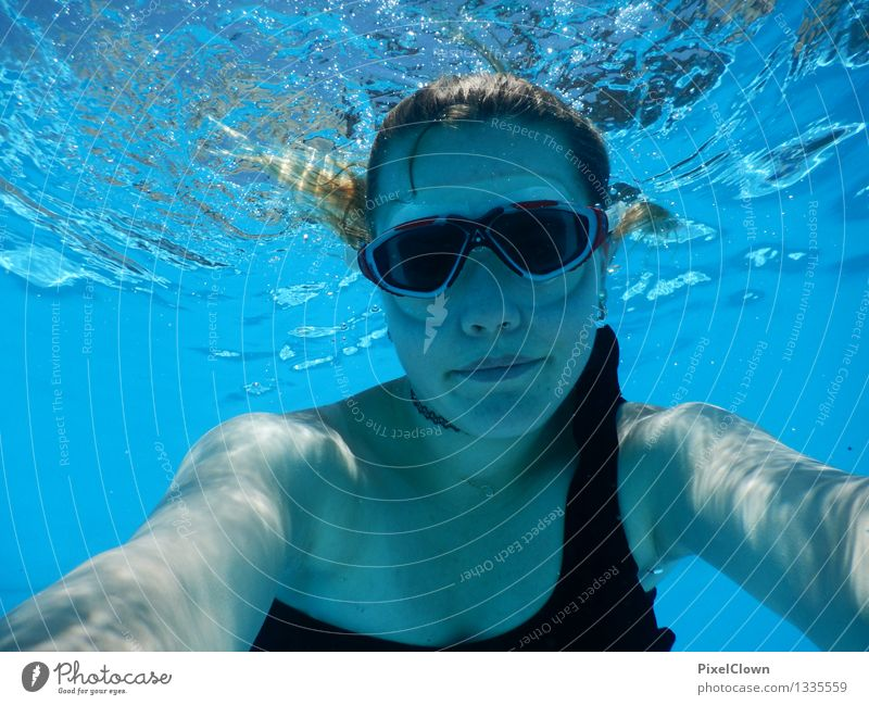 Human being Vacation & Travel Youth (Young adults) Blue Beautiful Water Ocean Beach Life Feminine Sports Lifestyle Swimming & Bathing Moody Tourism Body