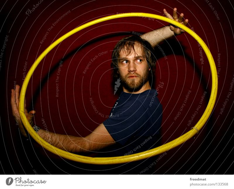 Yin Yang Hula hoop Hongkong Red Yellow Action Sweaty Circus Rotate Headache Diagonal Timidity Vignetting Shows Acrobat Homosexual Facial hair Cute Sweet Swing