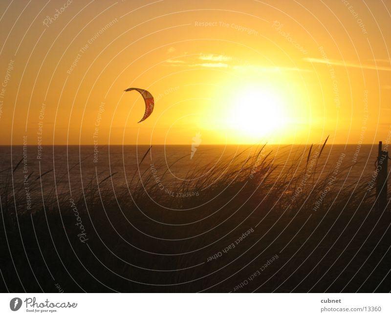 kite-surfing capetown Sunset Cape Town Beach Ocean Surfer kite surfer Blueberg Africa