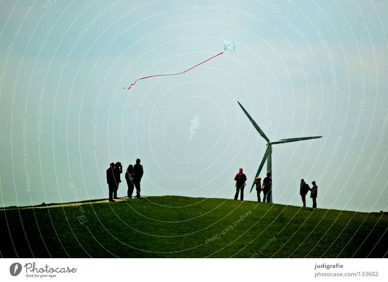 Human being Sky Nature Green Vacation & Travel Joy Colour Playing Grass Movement Wind Flying Walking Aviation Stand Hill