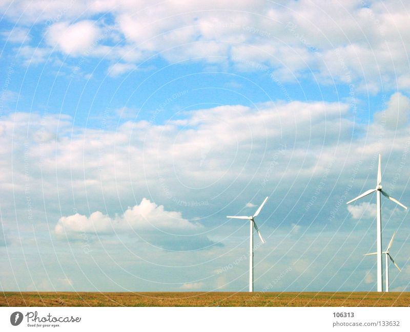 Nature Green Clouds Environment Field Wind Energy industry Electricity Technology Clean Wind energy plant Rotate Ecological Environmental protection