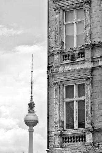 City House (Residential Structure) Window Berlin Transience Past Fear of the future Capital city Downtown Tourist Attraction Old town Television tower Lose