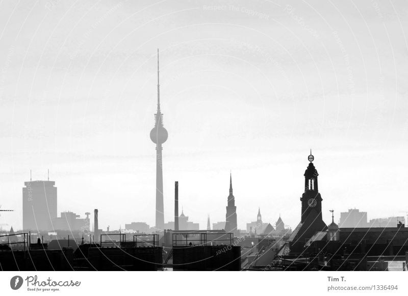 Berlin Town Capital city Downtown Old town Skyline Deserted Tourist Attraction Landmark Television tower Identity Center point Far-off places