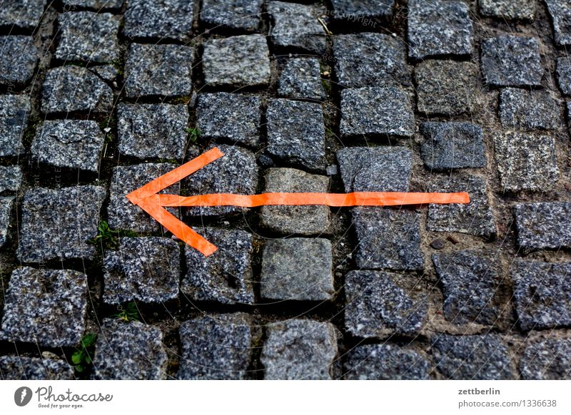 Lanes & trails Going Copy Space Signage Footpath Sidewalk Information Search Adult Education Arrow Indicate Hip & trendy Direction Cobblestones Map Paving stone