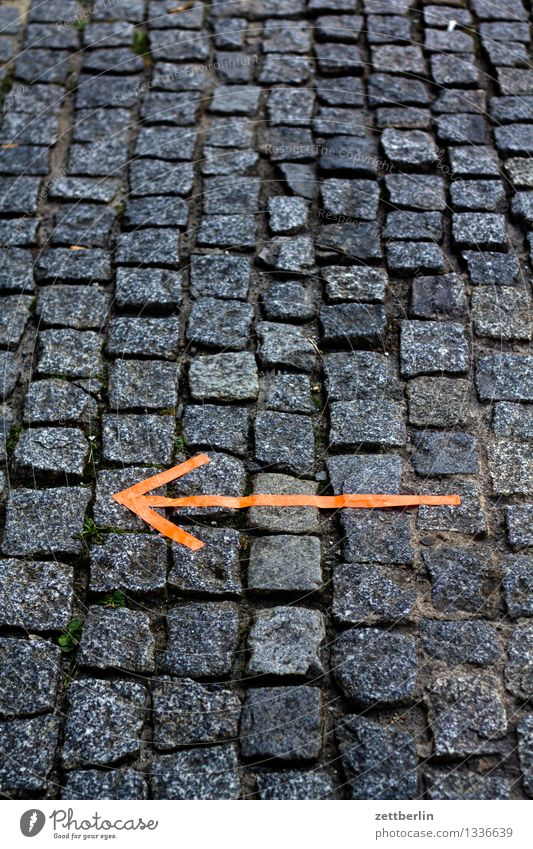Lanes & trails Going Copy Space Signage Footpath Sidewalk Information Search Adult Education Arrow Indicate Hip & trendy Direction Cobblestones Warning label