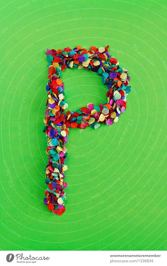 P Art Work of art Esthetic Letters (alphabet) Typography Latin alphabet Confetti Many Point Mosaic Bilious green Creativity Design Colour photo Multicoloured