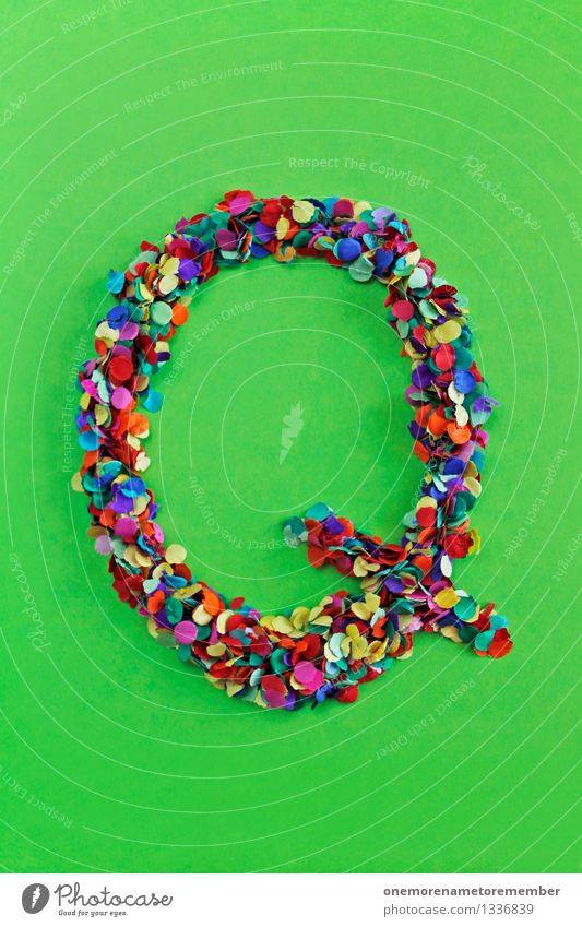 Q Art Work of art Esthetic Quality Jellyfish Across Letters (alphabet) Greek alphabet Confetti Creativity Design Many Point Multicoloured Colour photo