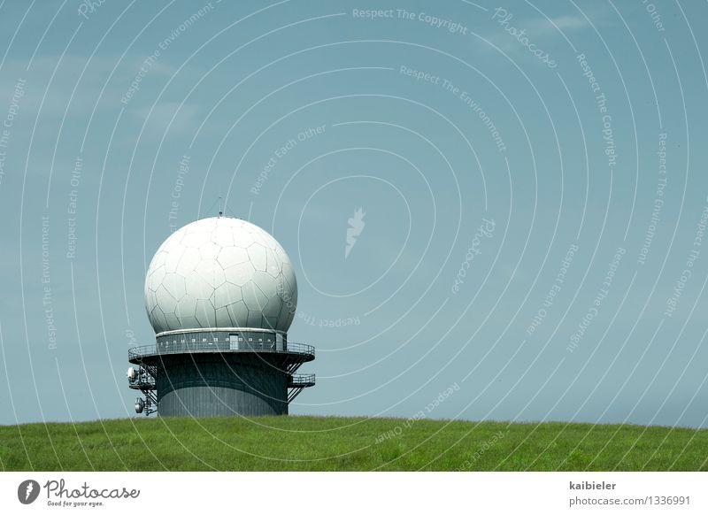 Blue Green Field Technology Telecommunications Threat Listening Information Technology Domed roof Surveillance Spy Military Grain field High-tech Monitoring