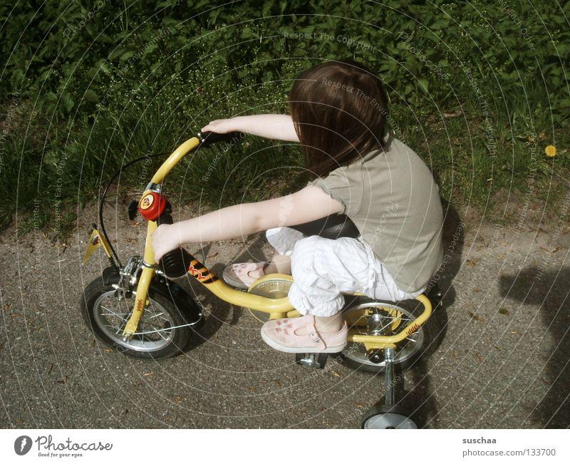 Child Girl Joy Street Small Sit Driving Leisure and hobbies Asphalt Brave Toddler Brash Cycling Freestyle Stunt