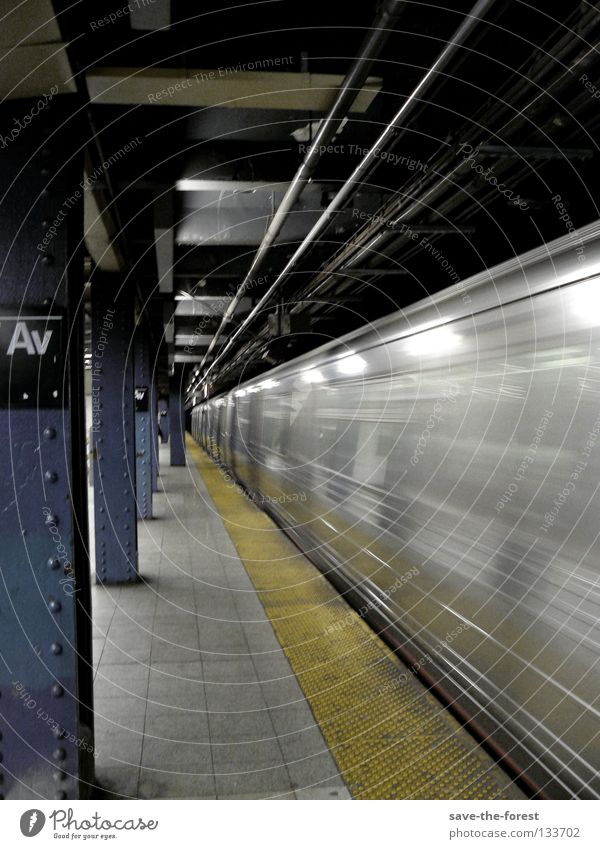 motion New York City Underground Railroad Speed Train station Movement USA