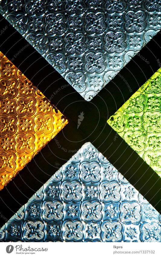 colorated glass and sun in morocco Blue Green Colour Eyes Funny Bright Metal Design Decoration Modern Creativity Illustration Infinity Africa Wallpaper