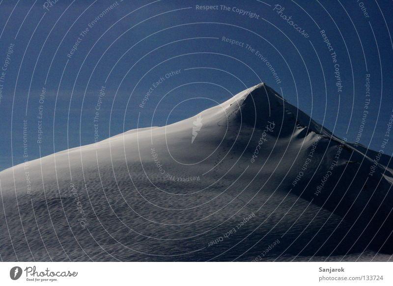 Winter Snow Mountain Peak Austria Blue sky Alpine Grossglockner High mountain region Snow layer Snowcapped peak