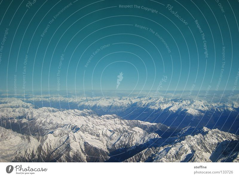 Sky Blue Snow Mountain Stone Rock Airplane Aviation Alps Italy Peak Switzerland Ski resort Dig