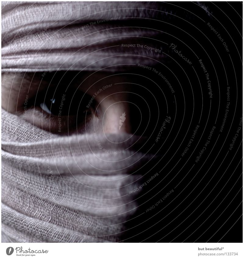 Dark Fear Dangerous Threat Anger Mysterious Panic Aggravation Criminal Concealed Packaged Headscarf