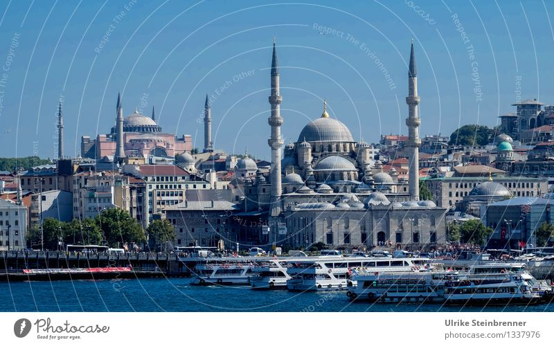 Minarets 4 Vacation & Travel Tourism Sightseeing City trip Istanbul Turkey Downtown Manmade structures Building Architecture Mosque Tower Tourist Attraction