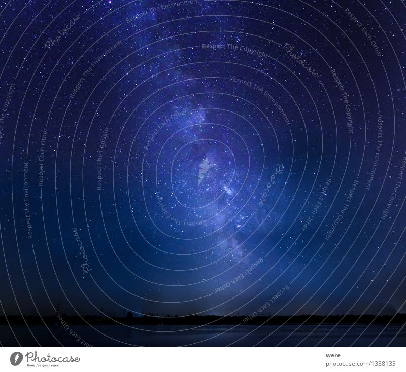 Sky Landscape Environment Glittering Large Stars Night sky Gigantic Astronaut Meteor Astronomy Constellation Milky way Observatory
