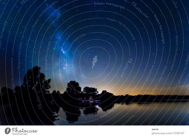 Sky Nature Landscape Environment Large Stars Infinity Wanderlust Night sky Gigantic Astronaut Meteor Astronomy Constellation Milky way Observatory