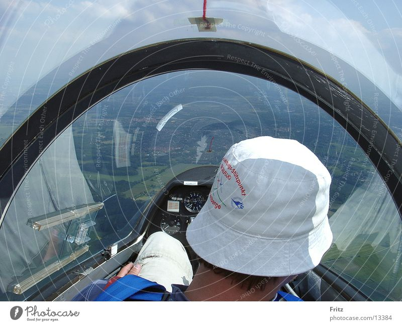 Aviation Pilot Airplane Cockpit Gliding