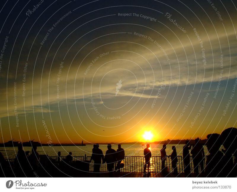 Sunset at Kadiköy Wharf Istanbul Sky Celestial bodies and the universe Harbour Marmara kad&#305 turkey clouds Silhouette bosphorus