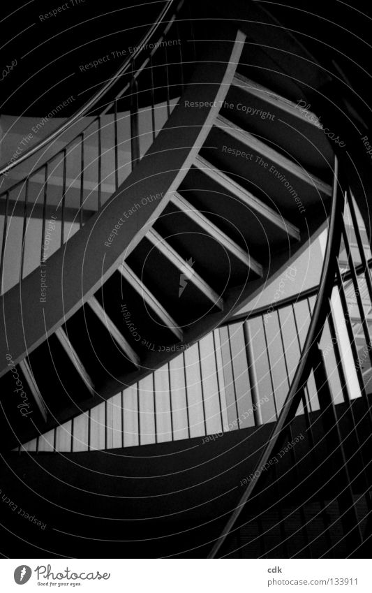 Calm Dark Above Gray Building Line Bright Room Going Concrete Tall Perspective Stairs Round Level Stand
