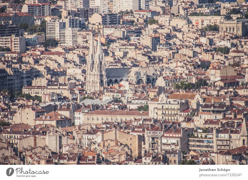 View of Marseille III Town Downtown Old town Skyline Populated House (Residential Structure) Esthetic France Southern France Summer Summer vacation