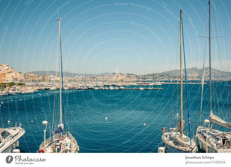 Îles de Marseille XIV Environment Nature Landscape Water Sky Cloudless sky Summer Beautiful weather Coast Ocean Island Happy Contentment