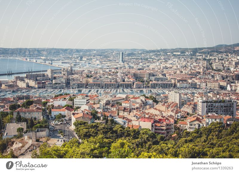 View of Marseille I Town Port City Downtown Old town Skyline Populated House (Residential Structure) Esthetic Contentment Joie de vivre (Vitality) Optimism
