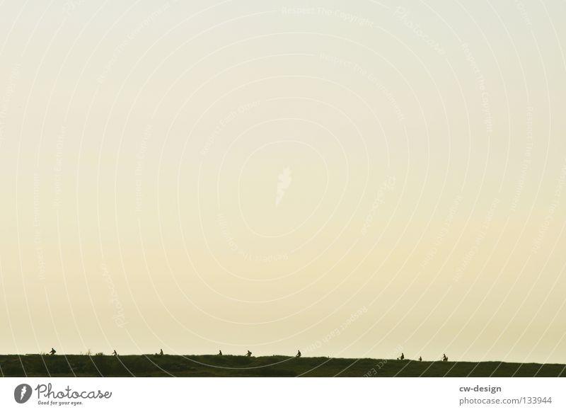 Sky Nature Beach Playing Coast Group Horizon Minimalistic Kick about