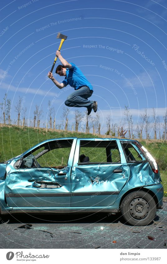 Human being Car Trashy Boredom Destruction Absurdity Digital photography Motor vehicle Humor