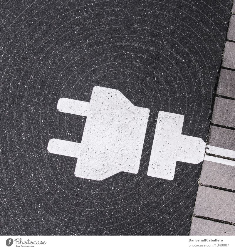 Pictogram from power plug to street Transport Connector Renewable energy Environment Energy Environmental protection Technology Cable stream Sustainability