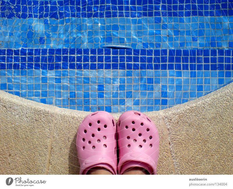 abysmal* Swimming pool Vacation & Travel Footwear Rubber Majorca Pink Edge Stand Dangerous Water Stairs Blue Arch Swimming & Bathing