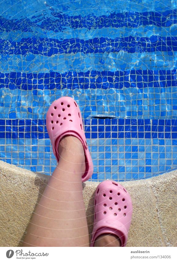 abysmal** Swimming pool Vacation & Travel Footwear Rubber Majorca Pink Edge Stand Dangerous Water Stairs Blue Arch Swimming & Bathing