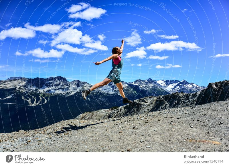 Human being Woman Sky Vacation & Travel Youth (Young adults) Blue Green Summer Young woman Clouds 18 - 30 years Adults Mountain Feminine Healthy Happy