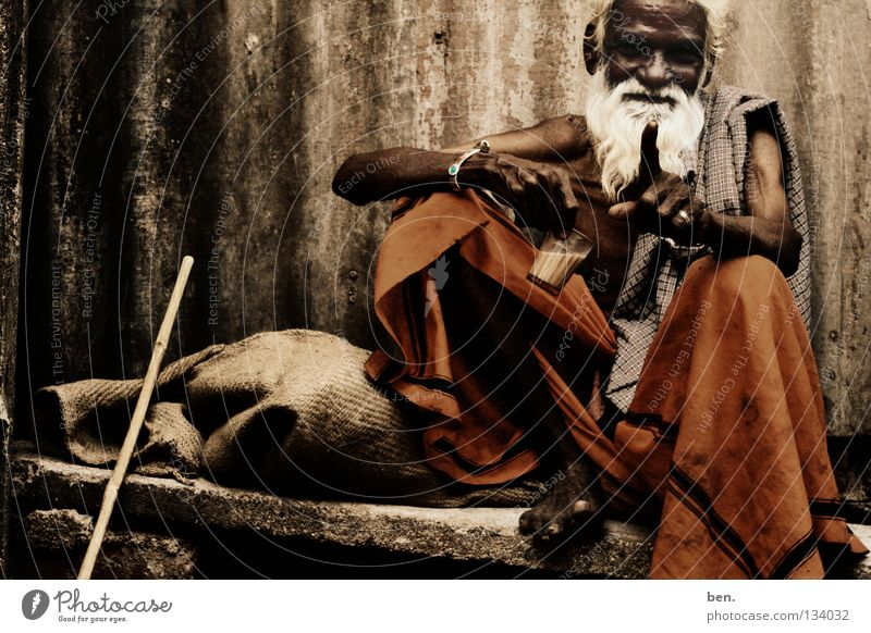 home Man Senior citizen India Indian Facial hair Costume Human being baba Om Shanti world soul chai Track: David and Goliath Sylvian