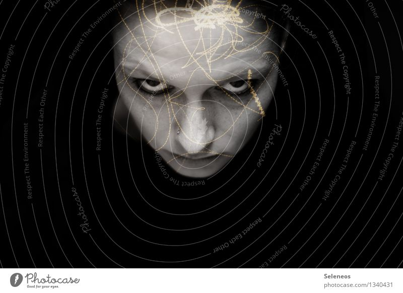 thought vortex Face Human being Feminine Woman Adults Eyes Nose Mouth 1 Anger Pain Aggravation Grouchy Animosity Frustration Headache Double exposure